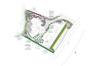 The site layout and planting plan
