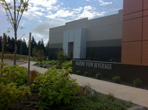 Low maintenance plantings soften the building's facade and welcome guest and employees